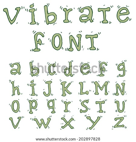 Vector Line font.Hand drawn sketch.