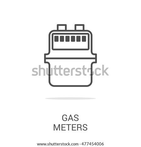 Vector Line Icon Gas Meter Web Stock Vector (Royalty Free) 477454006 ...