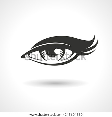 Vector lineart drawing of woman eye. - stock vector