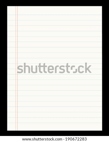 Vector Lined Paper Template