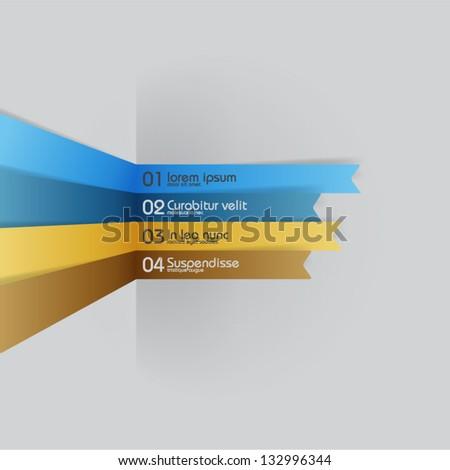 vector lines - design elements - stock vector