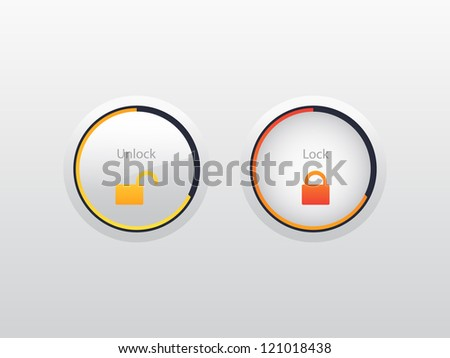 Vector lock buttons - stock vector