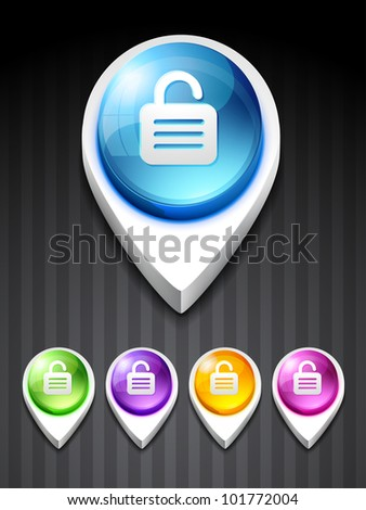 vector lock icon design art - stock vector