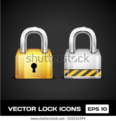 Vector Lock Icons - stock vector