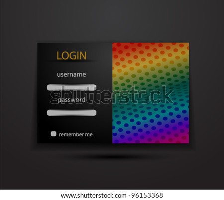Vector login/security form sample - stock vector