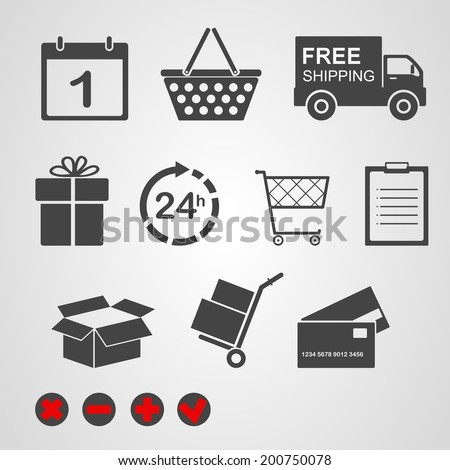 Vector. Logistic & delivery icons.  - stock vector