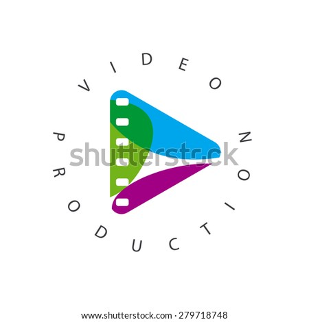 vector logo abstract play button - stock vector