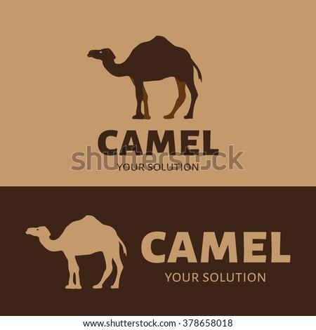 Vector logo camel. Brand logo in the shape of a camel - stock vector