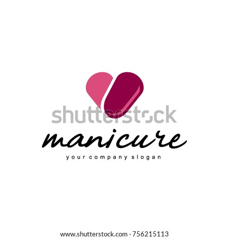 vector logo design for manicure and nail salon - Nail Salon Logo Design Ideas
