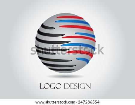 Vector logo design template.Abstract logo illustration. - stock vector