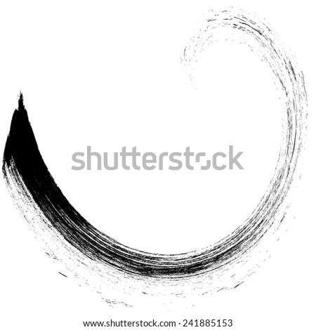 vector Logo Design Template . Swirl Grunge Shapes .