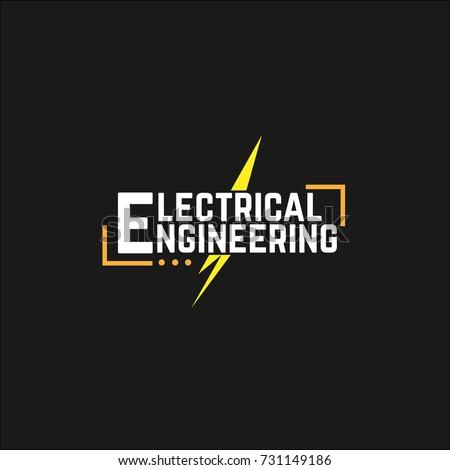 Vector Logo Electrical Engineering Stock Vector 731149186 - Shutterstock