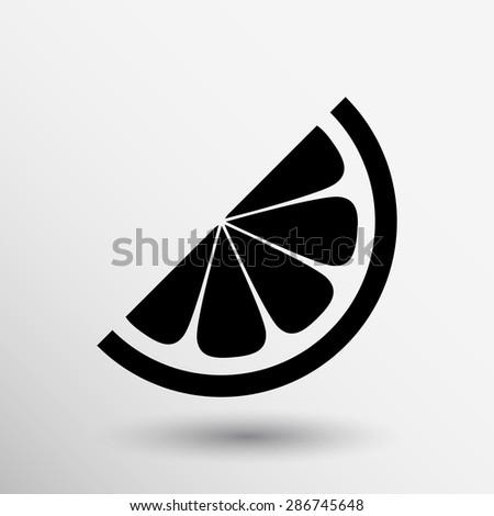 vector logo element in orange slice vitamins. - stock vector