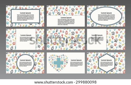 Vector logo for a pet store, veterinary, pet shop,animal care. Business card, Brochure, Flyer design vector template, business card.   - stock vector