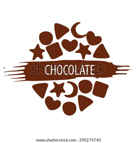 vector logo for a set of chocolate candies