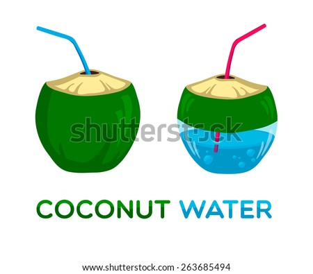Vector logo for coconut water