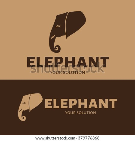 Vector logo of an elephant head.