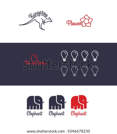 vector logo set with animals