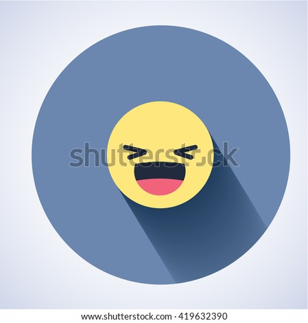 Vector logo. Smile face sign pin icon. Happy smiley chat symbol. Facebook new symbol. - stock vector