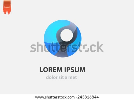 Vector logo sphere. Creative design for your company. - stock vector