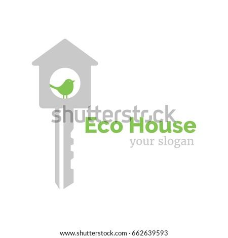 Vector Logo Template Eco Home Illustration Stock Vector 662639593 ...