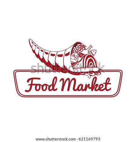 Vector Logo Template Food Market Store Stock Vector 621169793 ...