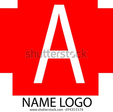 Vector Logo Red Box Letter There Stock Vector Shutterstock