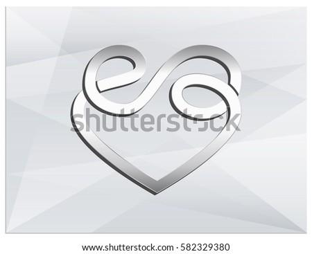 Vector Logo Which Combines Sign Heart Stock Vector 582329380