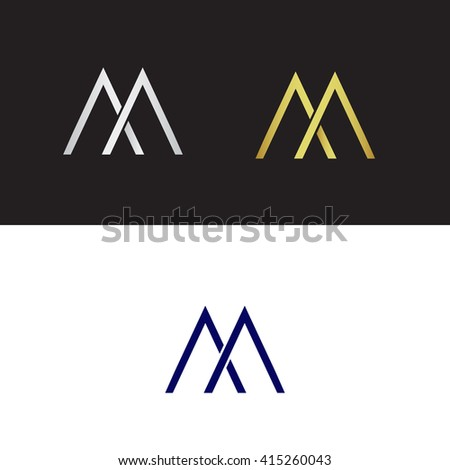 letter m logo vector logo capital letter m stock vector 415260043 138