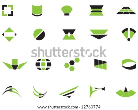 Vector logos and elements - stock vector