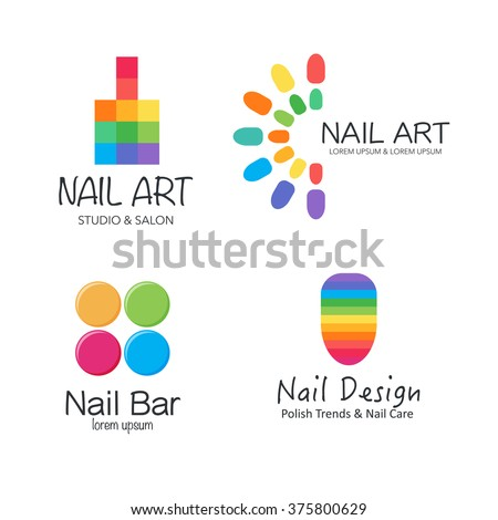 Vector logotype design nail salon studio stock vector 375800629 vector logotype design for nail salon studio bar spa boutique nail ccuart Images