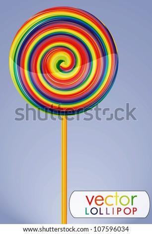 Vector lollipop candy - stock vector