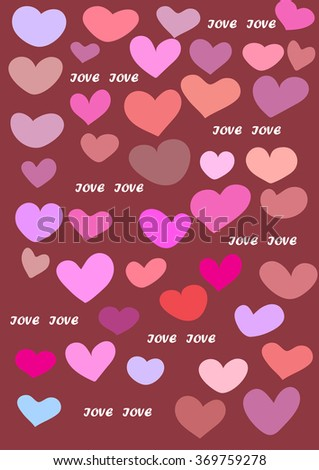 Vector love card background illustration