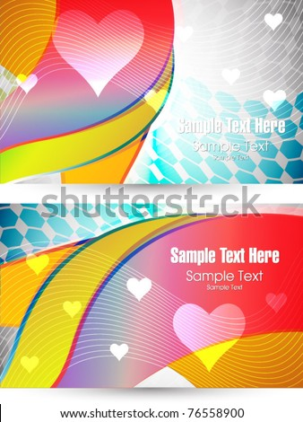 vector love cards