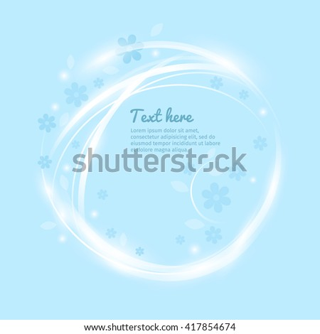 Vector lovely floral banner with magic light effect. Good for background, template, flyer, cover, invitation, greeting card.