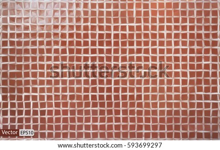 Vector low poly triangular old dirty tile wall