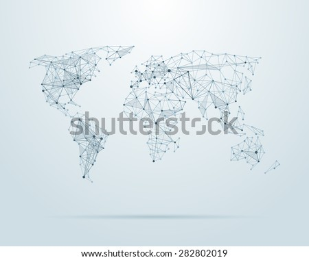 Vector low poly world map illustration stock vector hd royalty free vector low poly world map illustration point and geometrical form structure line gumiabroncs Image collections