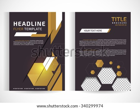 Vector luxurious brochure template design and place for pictures with classical element. EPS 10.Editable site for business, education, presentation, website, magazine cover. - stock vector