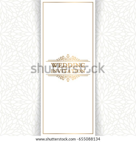 vector luxury wedding invitation with mandala - Wedding Invitation Background