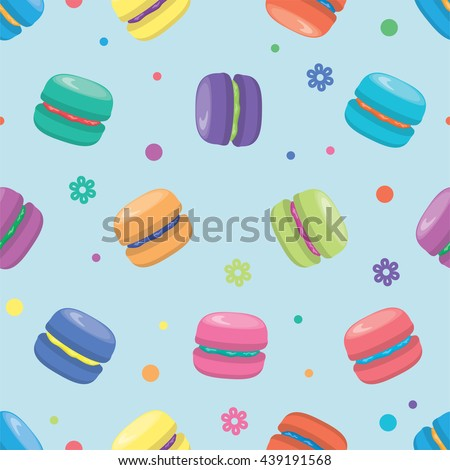 vector macaron seamless pattern - stock vector