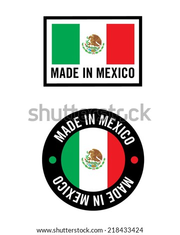 Vector 'Made In Mexico' Icon and Logo Set