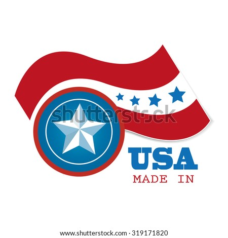 Vector 'Made in the USA - stock vector