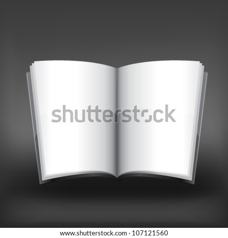 Vector magazine blank, page template for design on gray background - stock vector