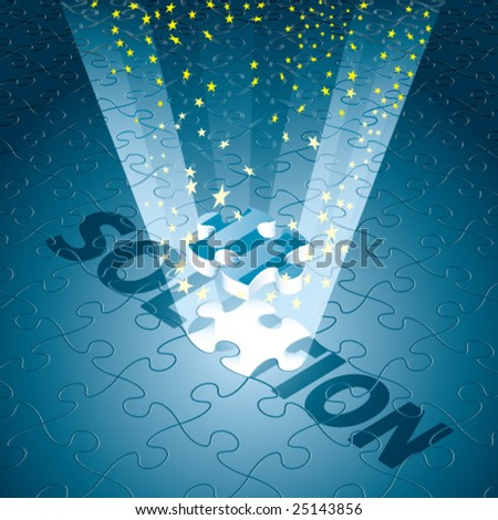 Vector Magical Solution for Business/Technology in Blue