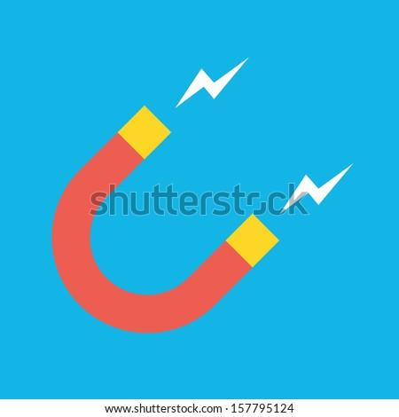 Vector Magnet Icon - stock vector