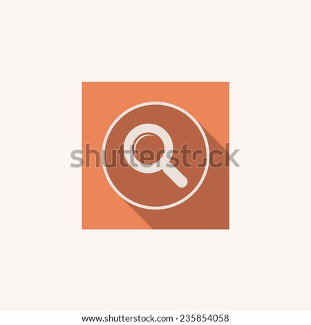 Vector magnifier glass zoom Icon search lupe - stock vector