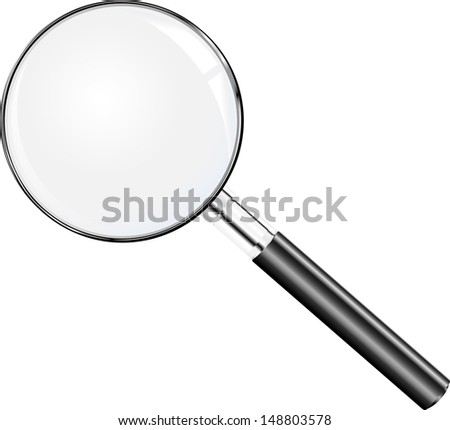 Vector magnifying glass - stock vector