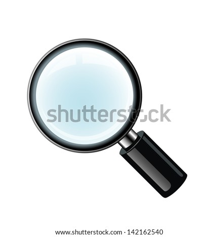 Vector magnifying glass isolated on white