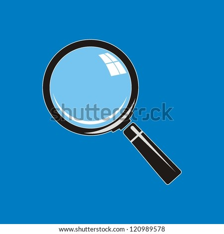 Vector. Magnifying glass on background - stock vector