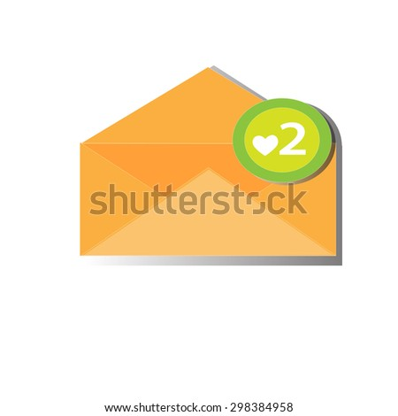Vector mail heart